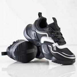 SHELOVET Lekkie Sportowe Sneakersy czarne 1
