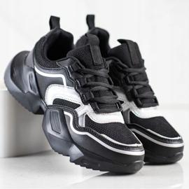 SHELOVET Lekkie Sportowe Sneakersy czarne 2