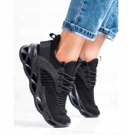 SHELOVET Czarne Sneakersy Fashion 3