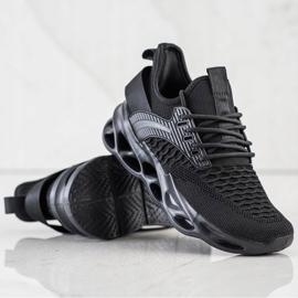 SHELOVET Czarne Sneakersy Fashion 1