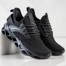 SHELOVET Czarne Sneakersy Fashion 2