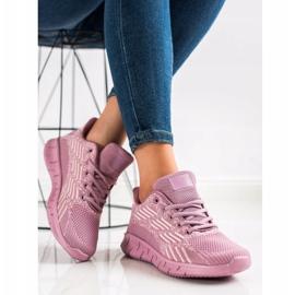 Bona Ażurowe Buty Sportowe fioletowe 1