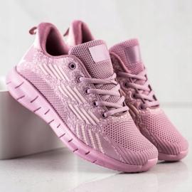 Bona Ażurowe Buty Sportowe fioletowe 3