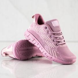 Bona Ażurowe Buty Sportowe fioletowe 4