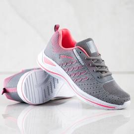Bona Buty Sportowe Running Speed różowe szare 1