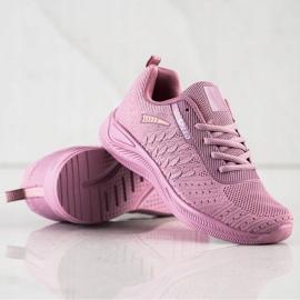 Bona Buty Sportowe Running Speed różowe 4
