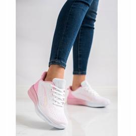 Bona Ażurowe Sneakersy Na Wiosnę białe różowe 1