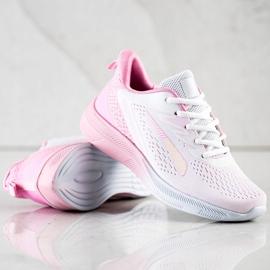 Bona Ażurowe Sneakersy Na Wiosnę białe różowe 3