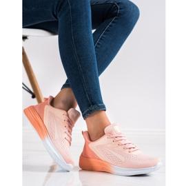 Bona Ażurowe Sneakersy Na Wiosnę pomarańczowe różowe 2