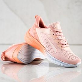Bona Ażurowe Sneakersy Na Wiosnę pomarańczowe różowe 1