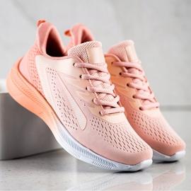 Bona Ażurowe Sneakersy Na Wiosnę pomarańczowe różowe 4