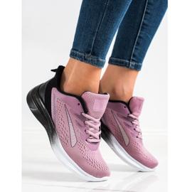 Bona Ażurowe Sneakersy Na Wiosnę czarne fioletowe różowe 4