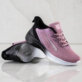 Bona Ażurowe Sneakersy Na Wiosnę czarne fioletowe różowe 1