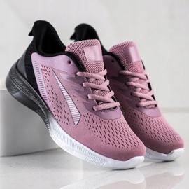 Bona Ażurowe Sneakersy Na Wiosnę czarne fioletowe różowe 2