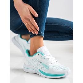 Bona Ażurowe Sneakersy Na Wisonę białe zielone 2