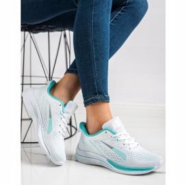 Bona Ażurowe Sneakersy Na Wisonę białe zielone 3