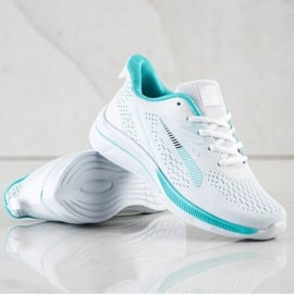 Bona Ażurowe Sneakersy Na Wisonę białe zielone 1