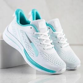Bona Ażurowe Sneakersy Na Wisonę białe zielone 4
