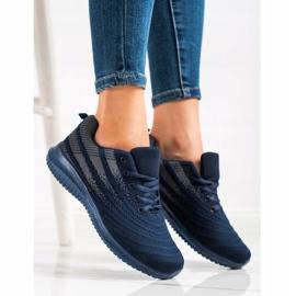 Bona Lekkie Granatowe Buty Sportowe niebieskie 3