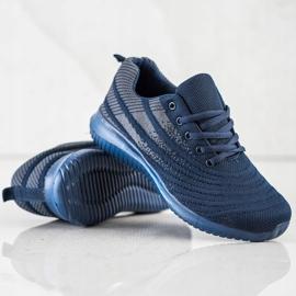 Bona Lekkie Granatowe Buty Sportowe niebieskie 1