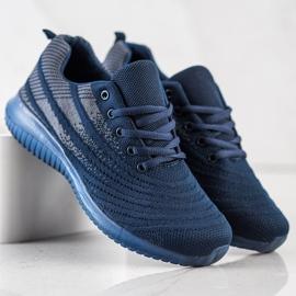 Bona Lekkie Granatowe Buty Sportowe niebieskie 4