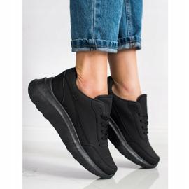 SHELOVET Klasyczne Sneakersy Z Eko Skóry czarne 1
