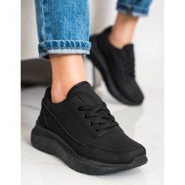 SHELOVET Klasyczne Sneakersy Z Eko Skóry czarne 2