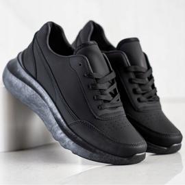 SHELOVET Klasyczne Sneakersy Z Eko Skóry czarne 3