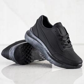 SHELOVET Klasyczne Sneakersy Z Eko Skóry czarne 4
