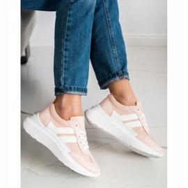 SHELOVET Buty Sportowe Na Platformie różowe 1