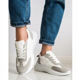 SHELOVET Buty Sportowe Na Platformie białe 1