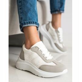 SHELOVET Buty Sportowe Na Platformie białe 4