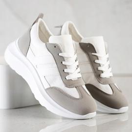 SHELOVET Buty Sportowe Na Platformie białe 2