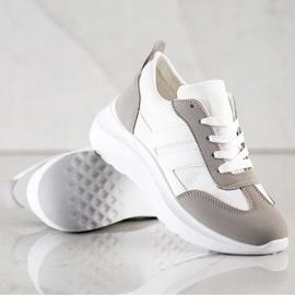 SHELOVET Buty Sportowe Na Platformie białe 3