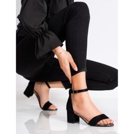 Sandały Na Słupku Sergio Leone czarne 1