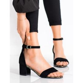 Sandały Na Słupku Sergio Leone czarne 3