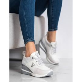 Casualowe Sneakersy VINCEZA białe szare 1