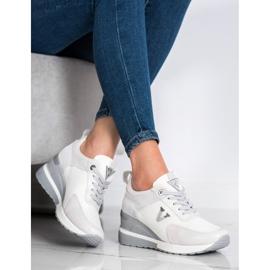 Casualowe Sneakersy VINCEZA białe szare 2