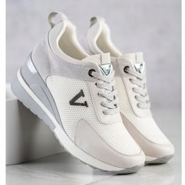 Casualowe Sneakersy VINCEZA białe szare 3