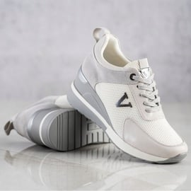 Casualowe Sneakersy VINCEZA białe szare 4
