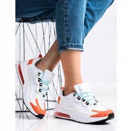 SHELOVET Tekstylne Sneakersy białe wielokolorowe 1