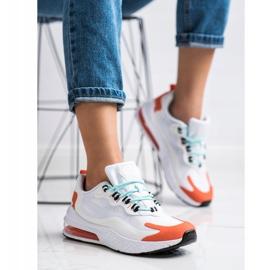SHELOVET Tekstylne Sneakersy białe wielokolorowe 4
