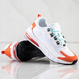 SHELOVET Tekstylne Sneakersy białe wielokolorowe 2