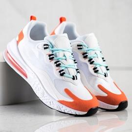 SHELOVET Tekstylne Sneakersy białe wielokolorowe 3