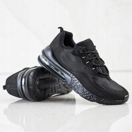 SHELOVET Tekstylne Sneakersy czarne 1