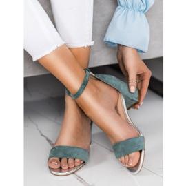 Sandały Na Słupku Sergio Leone zielone 4