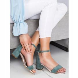 Sandały Na Słupku Sergio Leone zielone 1