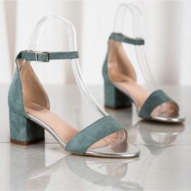 Sandały Na Słupku Sergio Leone zielone 2