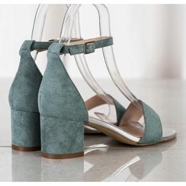 Sandały Na Słupku Sergio Leone zielone 3