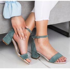 Sandały Na Słupku Sergio Leone zielone 5